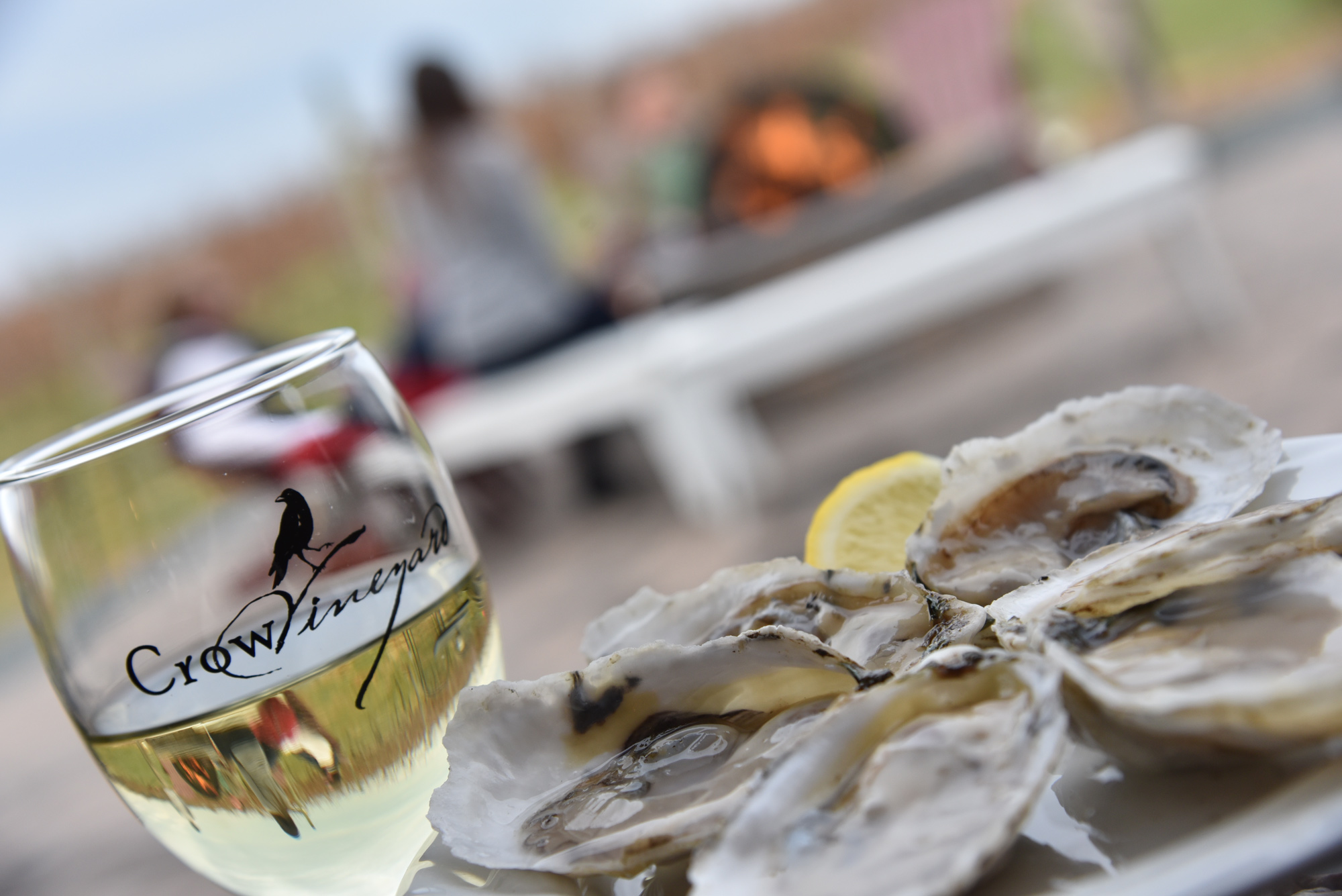 Crow Vineyard & Winery Fire Pit Oysters