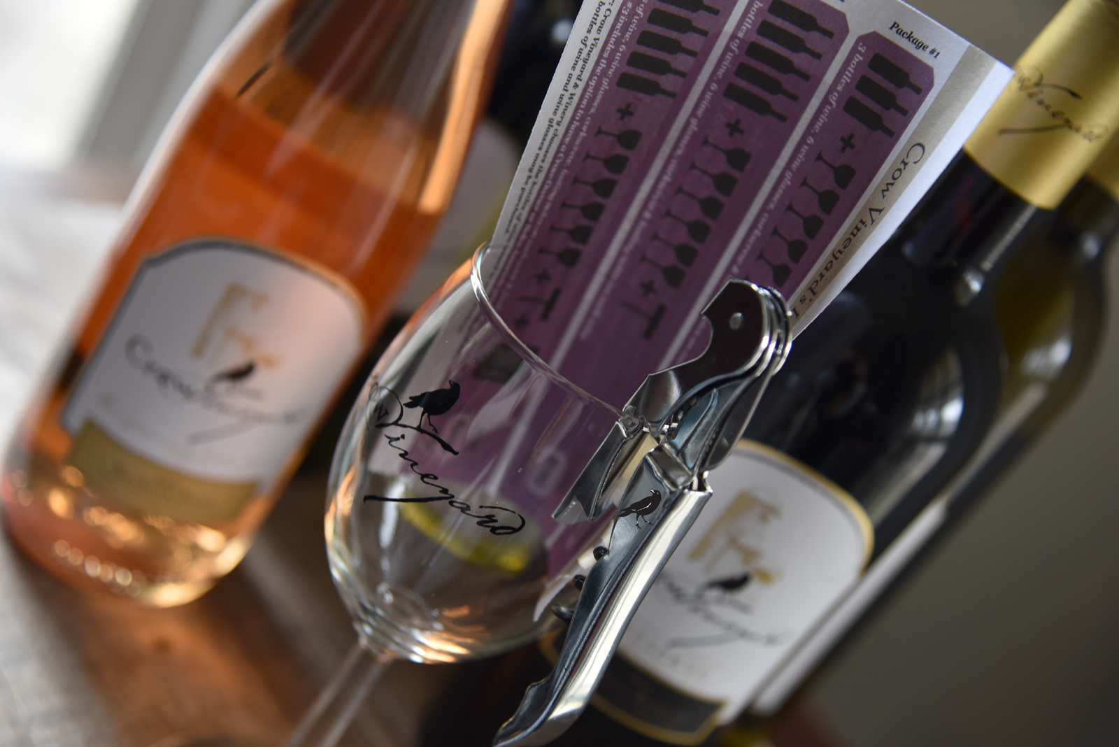 Crow Vineyard & Winery In-Home Tasting Packages