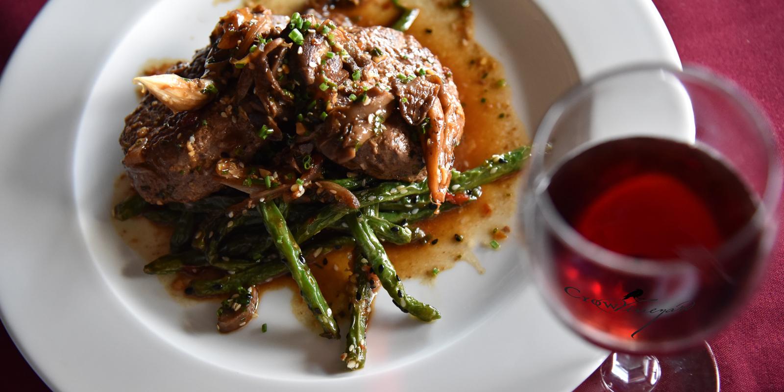 Crow Food and Wine Pairings