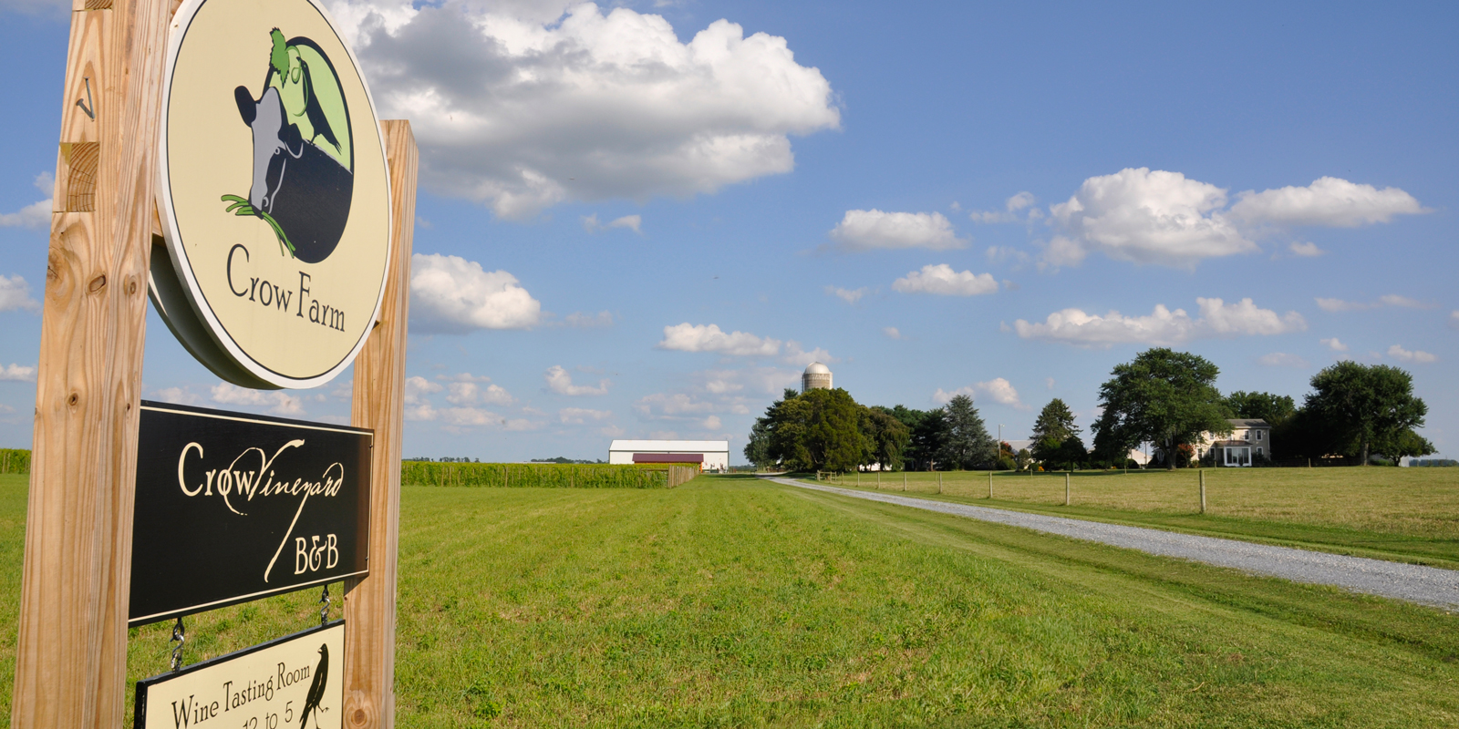 Crow Vineyard & Winery Entrance